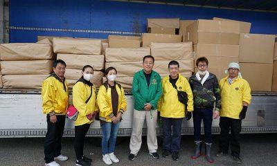 被災地へ支援物資を届けました。